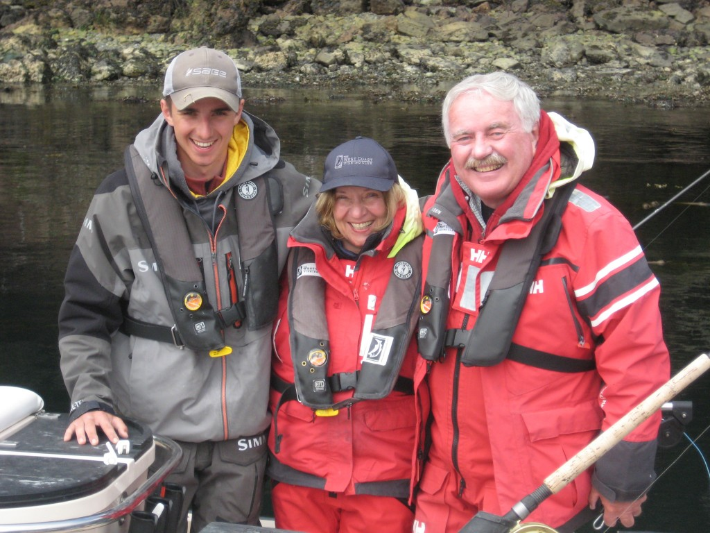 Guide Taylor, Peggy Zoro and Bob McDonald ready to head out for the afternoon session.