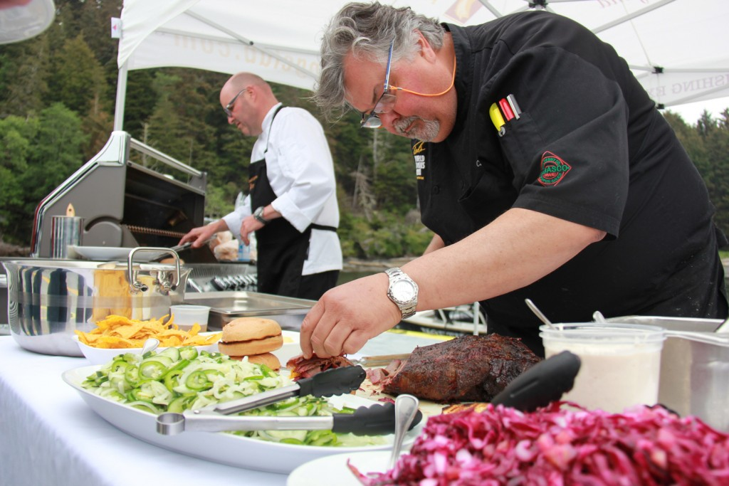 * Chef Christian Pritchard and Chef Ted Reader putting the final touches on lunch.