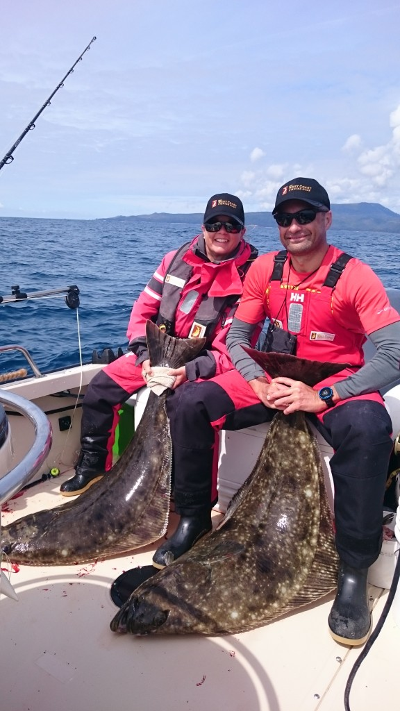* Blake & Jada Snider with two perfect take home size Halibut.
