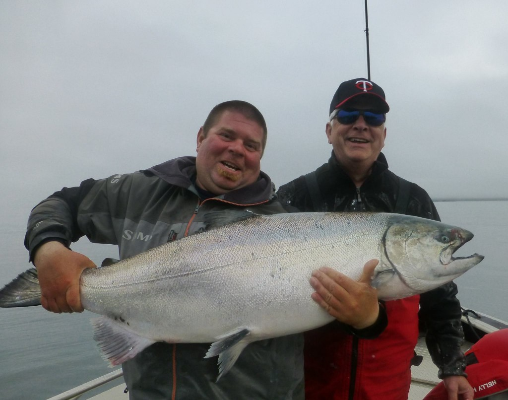 * Al Norris and Guide DJ with a 50lb Tyee.