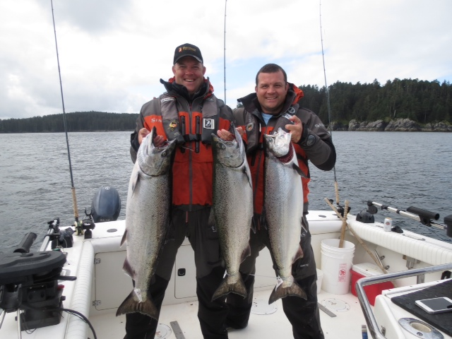 * Toby and Rob Mallinder with a couple nice Chinooks.