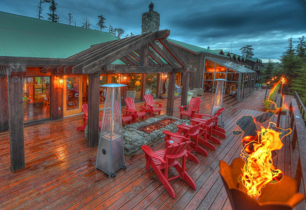 * George played around with some over and under exposure to put together this creative shot of The Clubhouse Deck.
