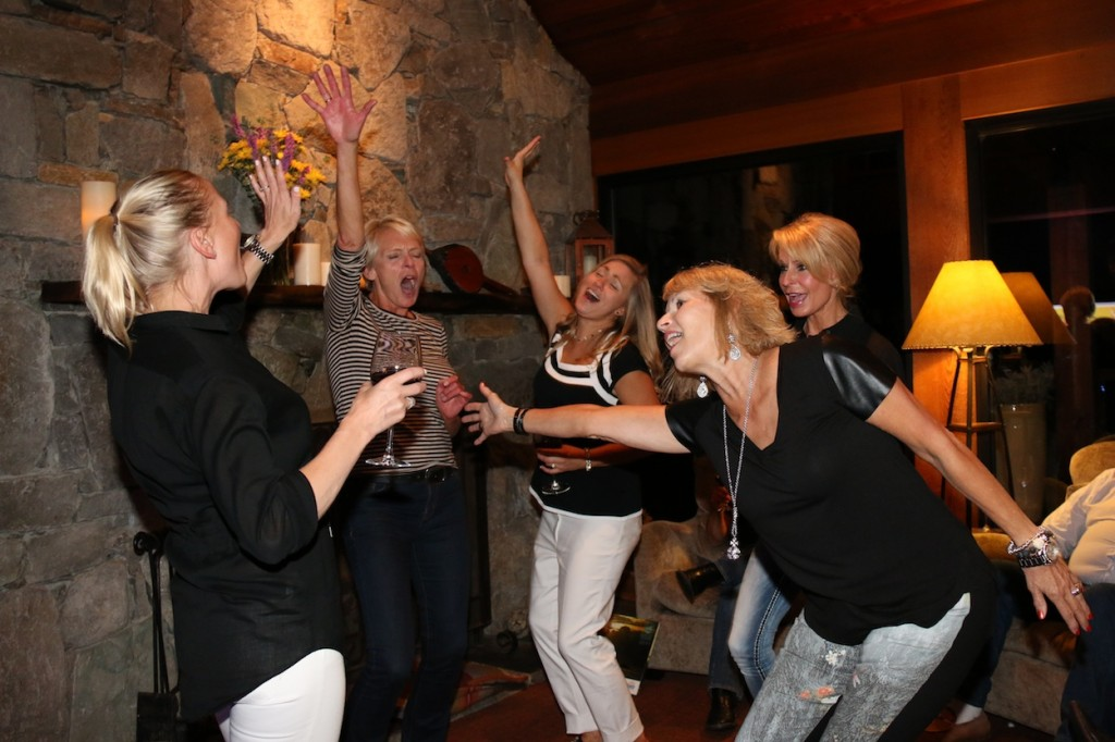 * A few of the ladies in attendance dancing the night away.